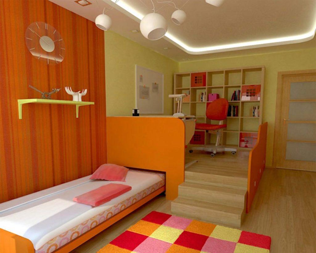 Фото углового подиума со встроенной выкатной кроватью