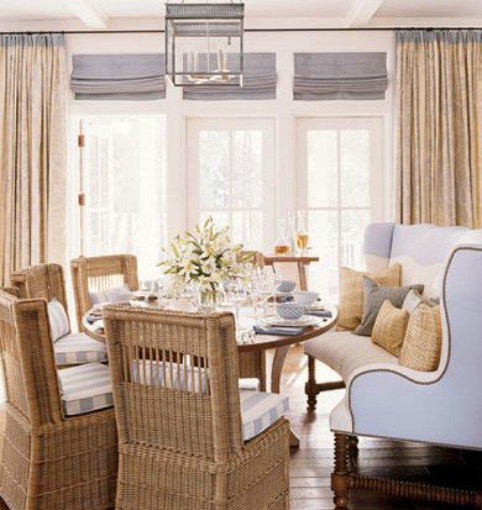 Полукруглый диван в интерьере кухни (37)