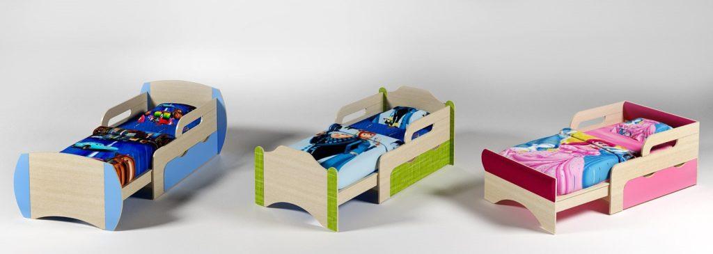 Выдвижные кровати для детей в различных цветовых вариациях
