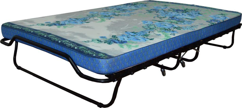 Фото ортопедической раскладной кровати на ламелях с матрасом