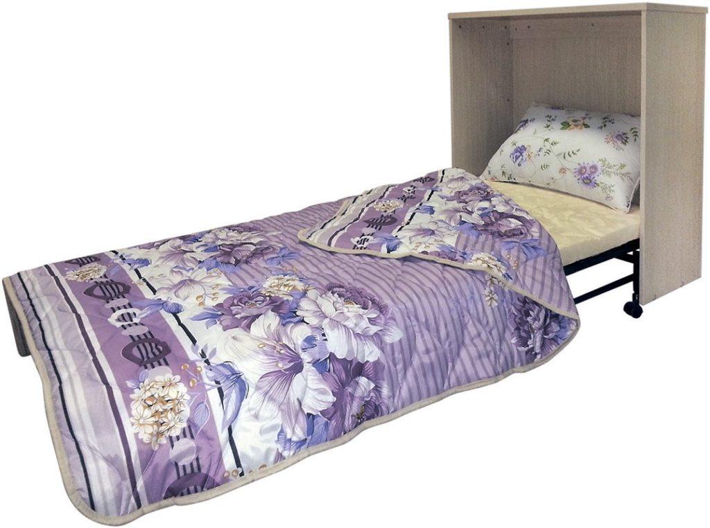 Раскладная кровать встроенная в тумбу