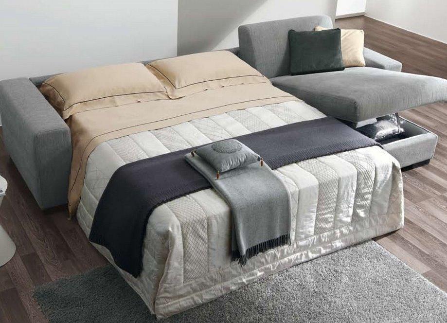 Фото углового дивана с большим двуспальным местом