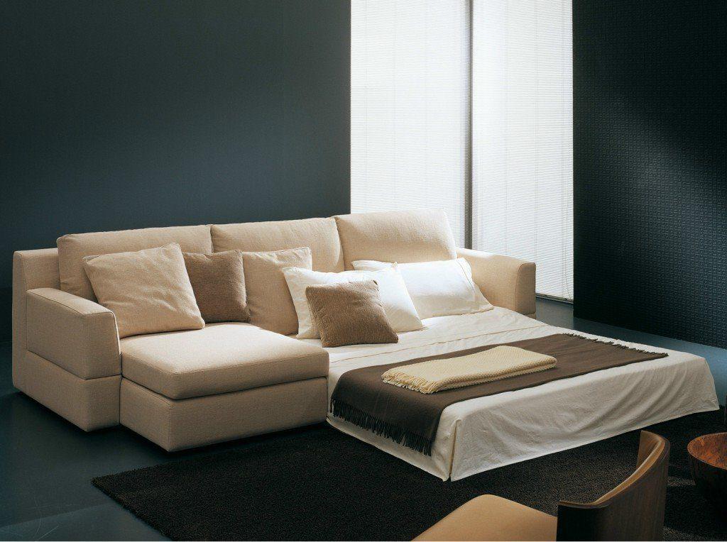Фото углового спального дивана в разложенном виде