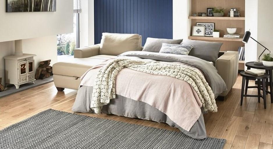 Большой двуспальный угловой диван