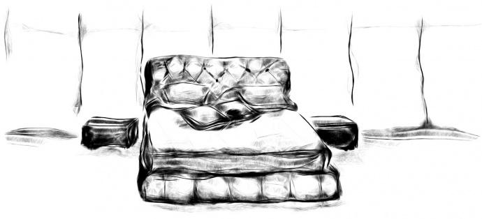 Рисунок кровати