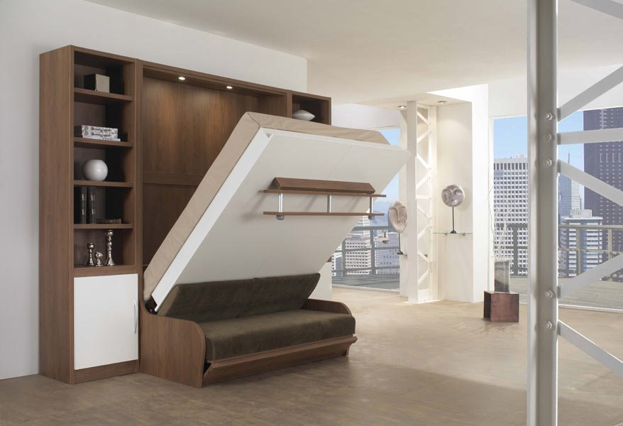 3 в 1 шкаф диван кровать в процессе трансформации