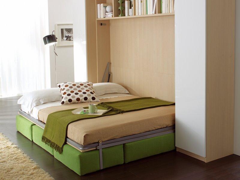 Откидная шкаф-кровать с модульным диваном и металлическим каркасом
