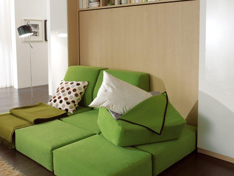 Откидная шкаф-кровать с модульным диваном