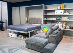 Шкаф-диван-кровать 3 в 1 с большим угловым диваном