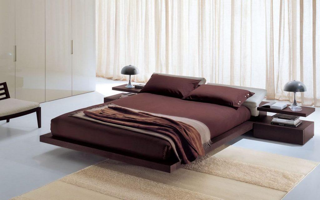 Стильная кровать с ортопедическим основанием на ламелях