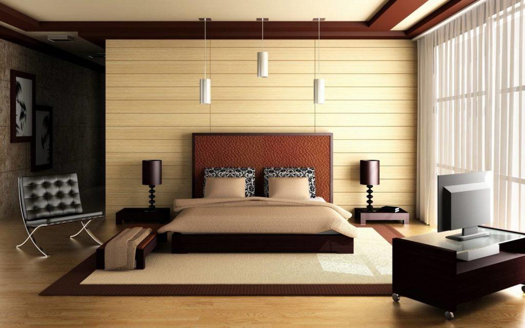 Роскошная кровать в интерьере