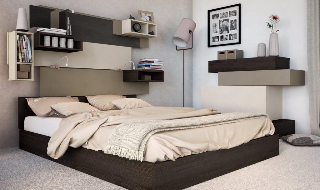 Большая кровать с ортопедическим основанием под матрас