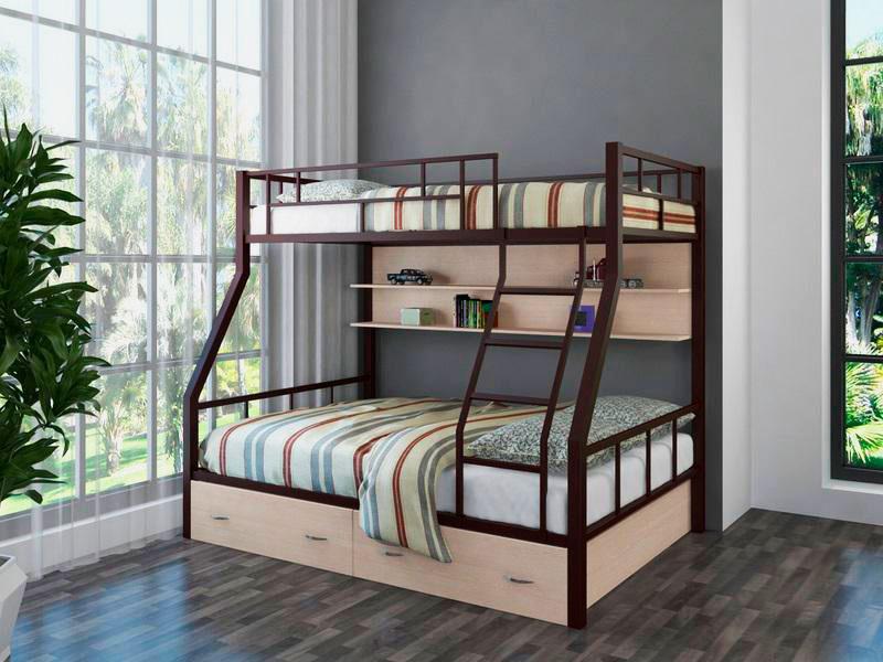 Двухъярусная кровать для взрослых (13)