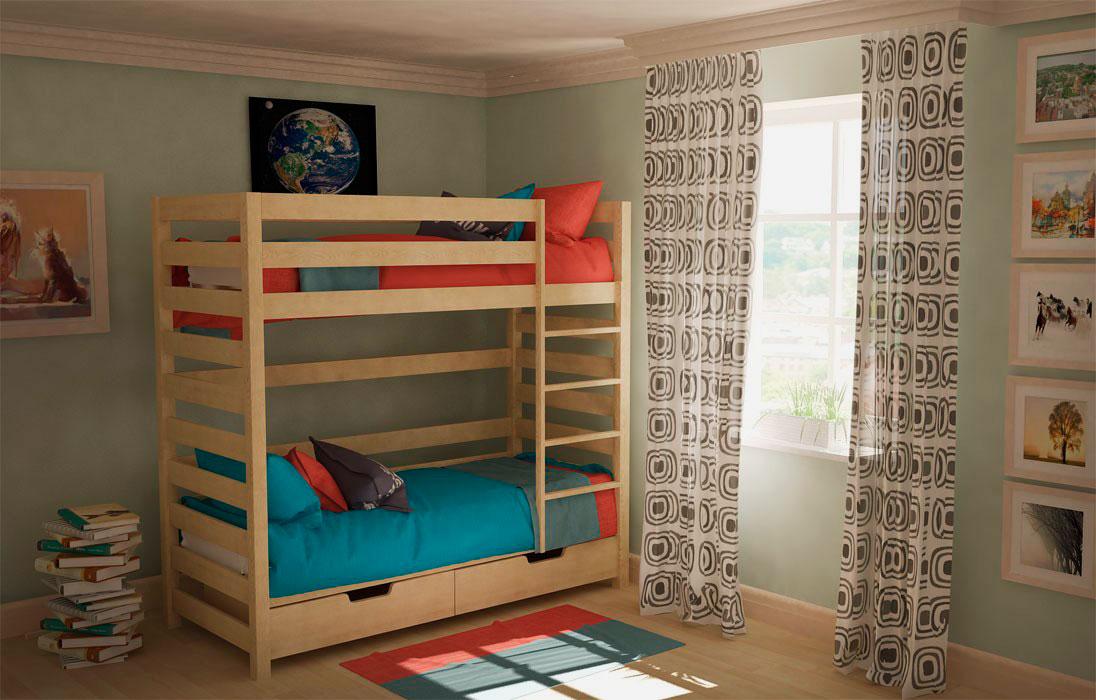 Двухъярусная кровать для подростков (11)