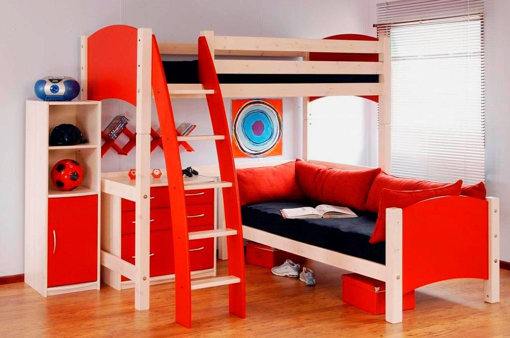 Двухъярусная кровать для подростков (21)