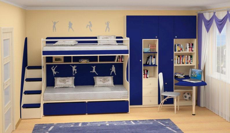 Двухъярусная кровать для подростков (28)