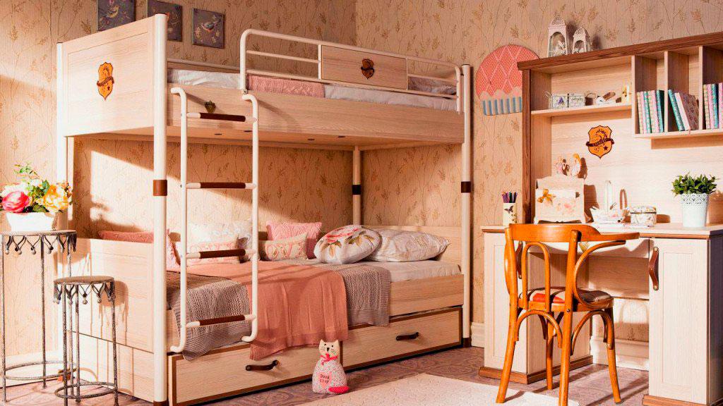 Двухъярусная кровать для подростков (32)