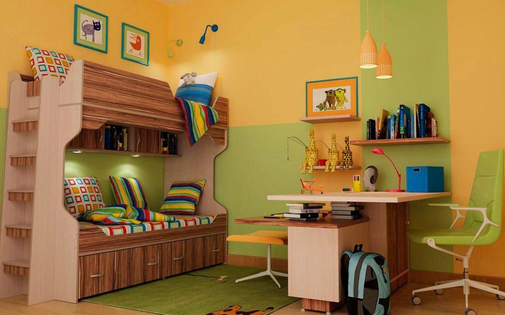 Двухэтажная кровать для школьников