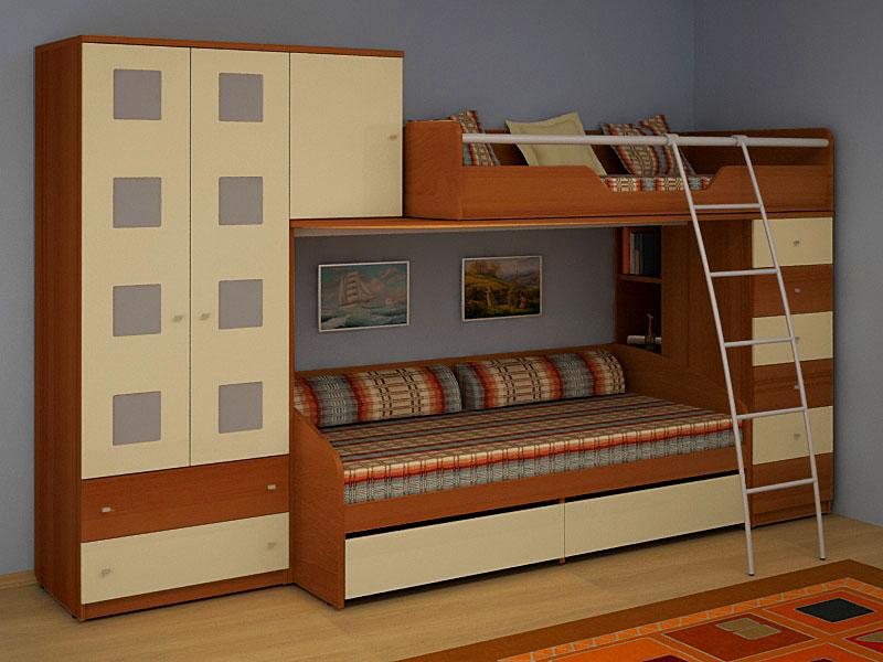 Двухъярусная кровать для подростков (6)