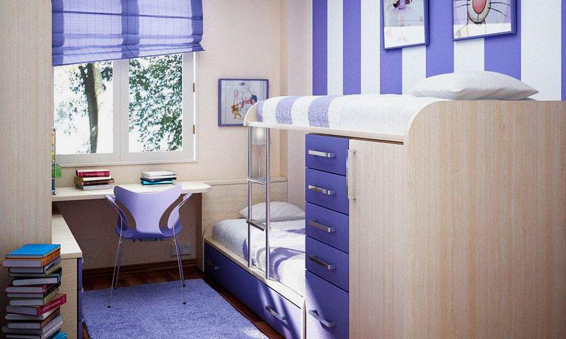 Двухъярусная кровать со шкафом (1)