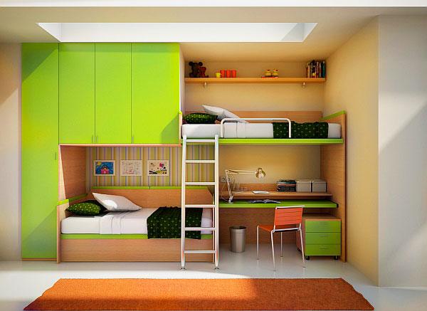 Двухъярусная кровать со шкафом (10)
