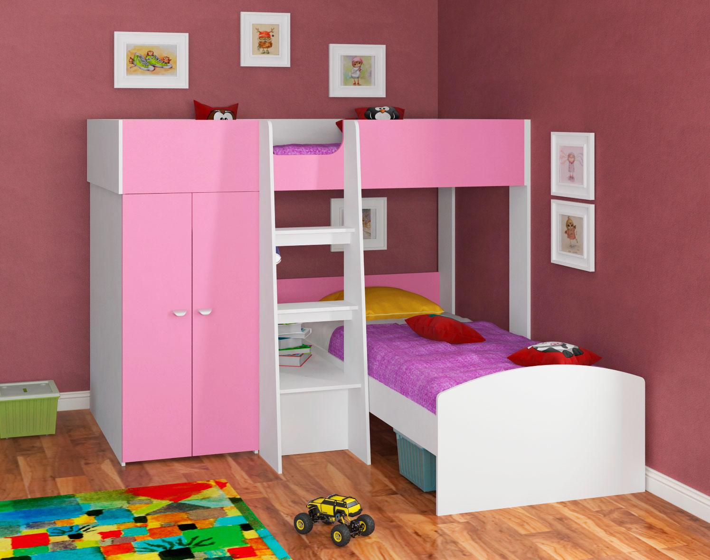 Двухъярусная кровать со шкафом (14)