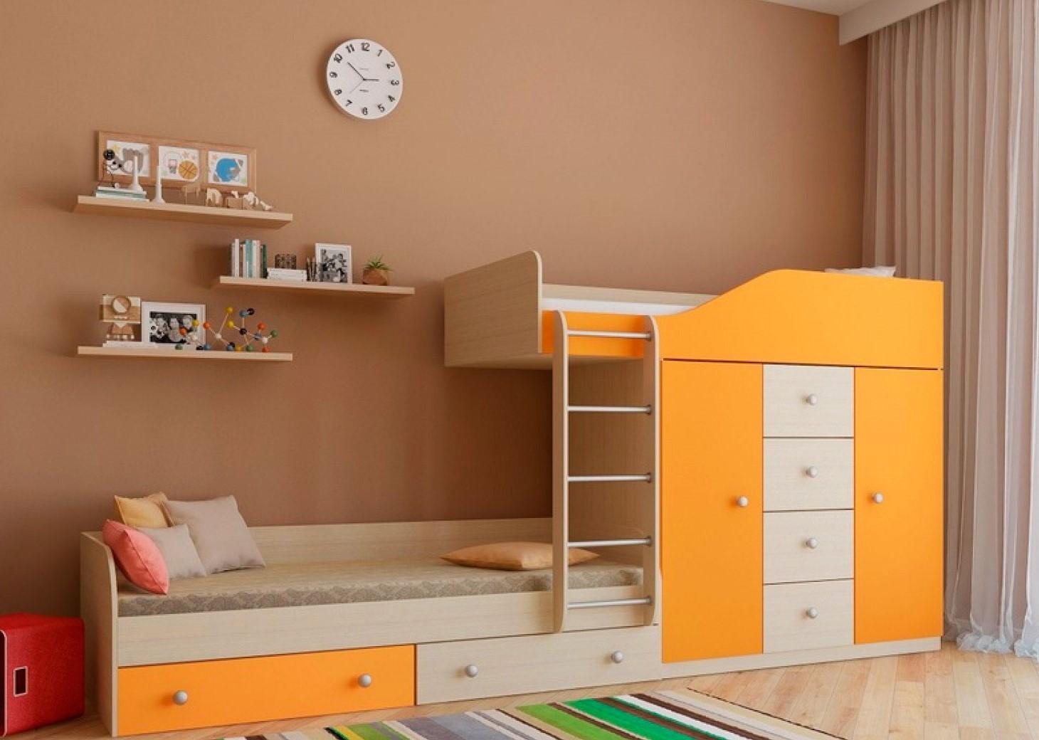Двухъярусная кровать со шкафом (15)