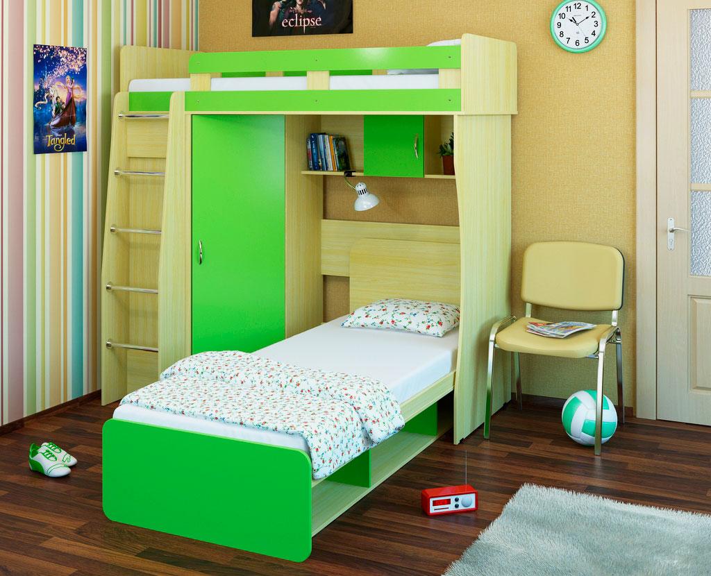 Двухъярусная кровать со шкафом (17)
