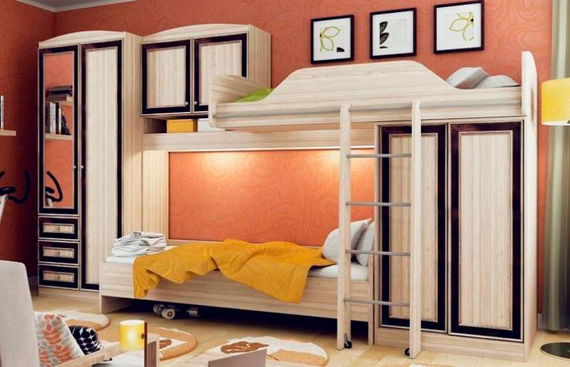 Двухъярусная кровать со шкафом (23)