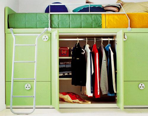 Двухъярусная кровать со шкафом (25)
