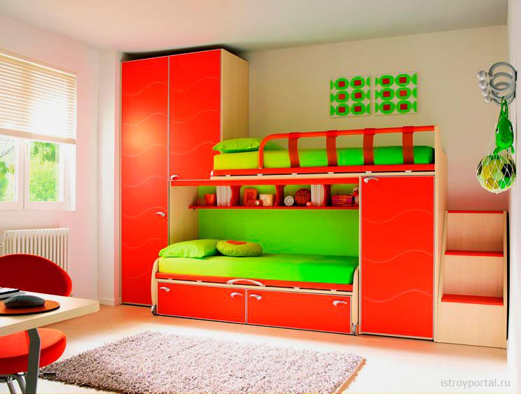 Двухъярусная кровать со шкафом (26)
