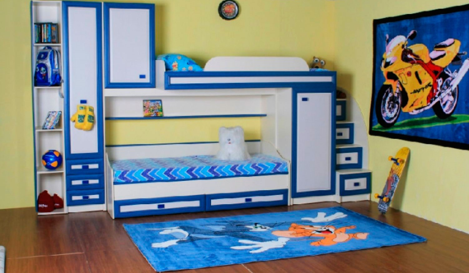 Двухъярусная кровать со шкафом (33)