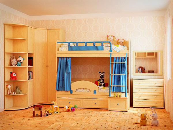 Двухъярусная кровать со шкафом (35)