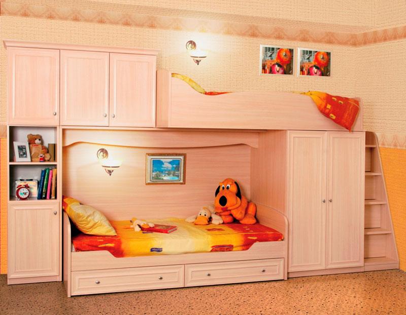 Двухъярусная кровать со шкафом (37)