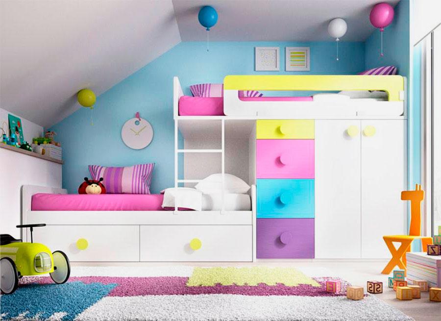 Двухъярусная кровать со шкафом (4)