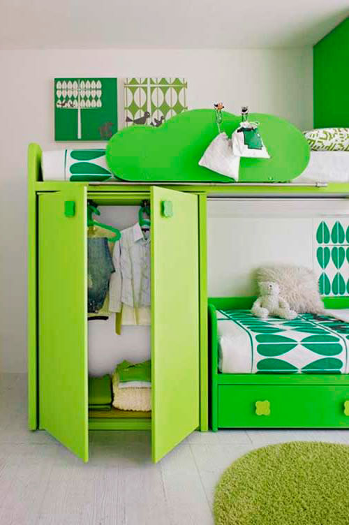 Двухъярусная кровать со шкафом (6)