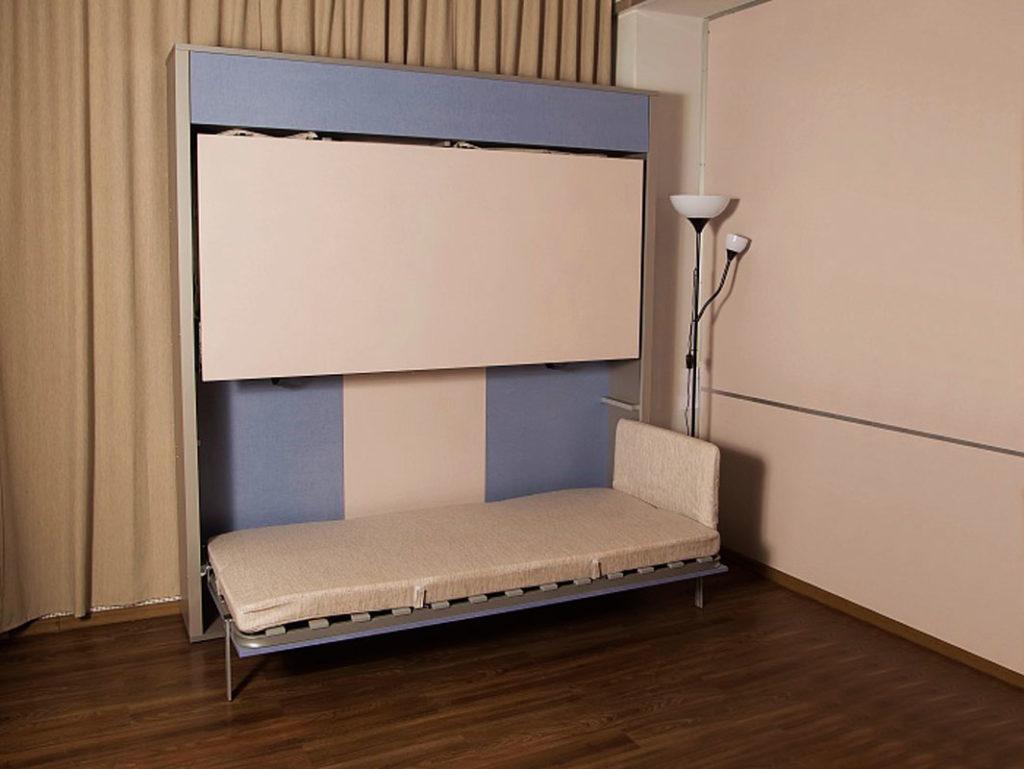 Шкаф-двухъярусная кровать в интерьере