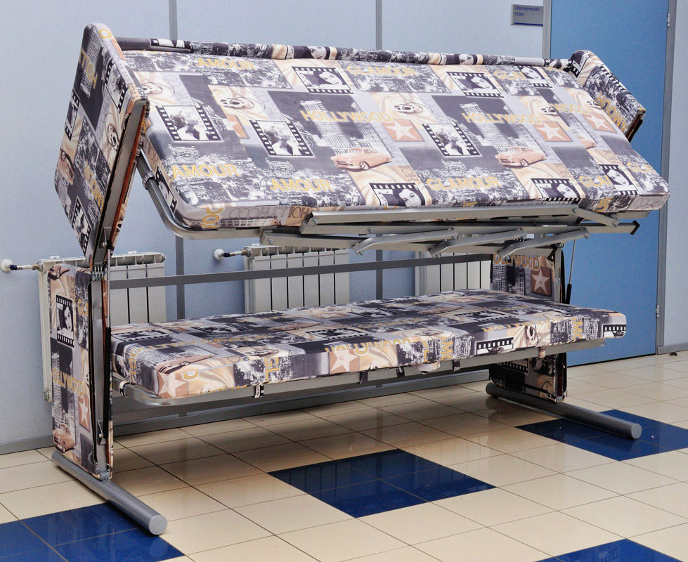 Фото двухъярусной кровати трансформирующийся в диван