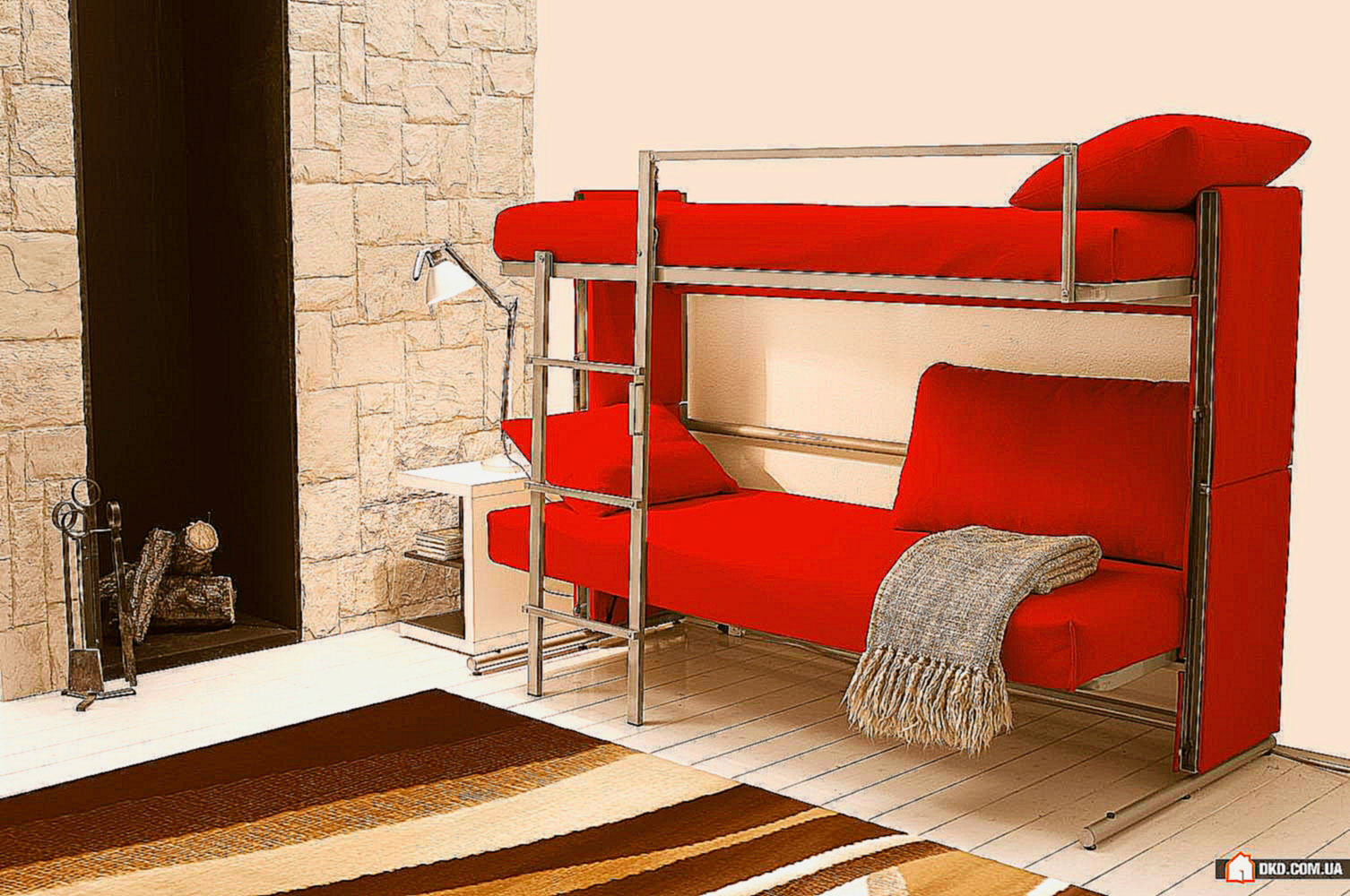 Двухъярусная кровать-трансформер (6)