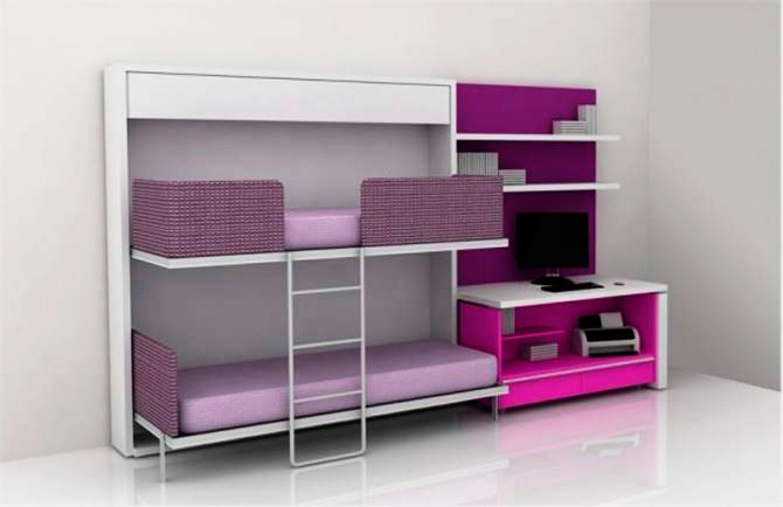 Двухъярусная откидная шкаф-кровать трансформер (10)