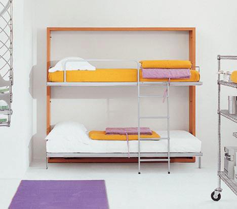 Двухъярусная откидная шкаф-кровать трансформер (12)