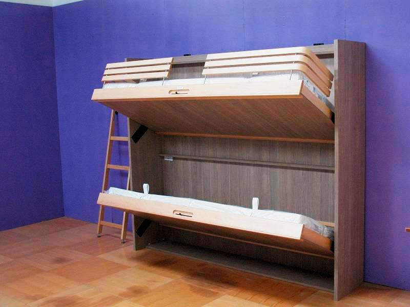 Двухъярусная откидная шкаф-кровать трансформер (13)