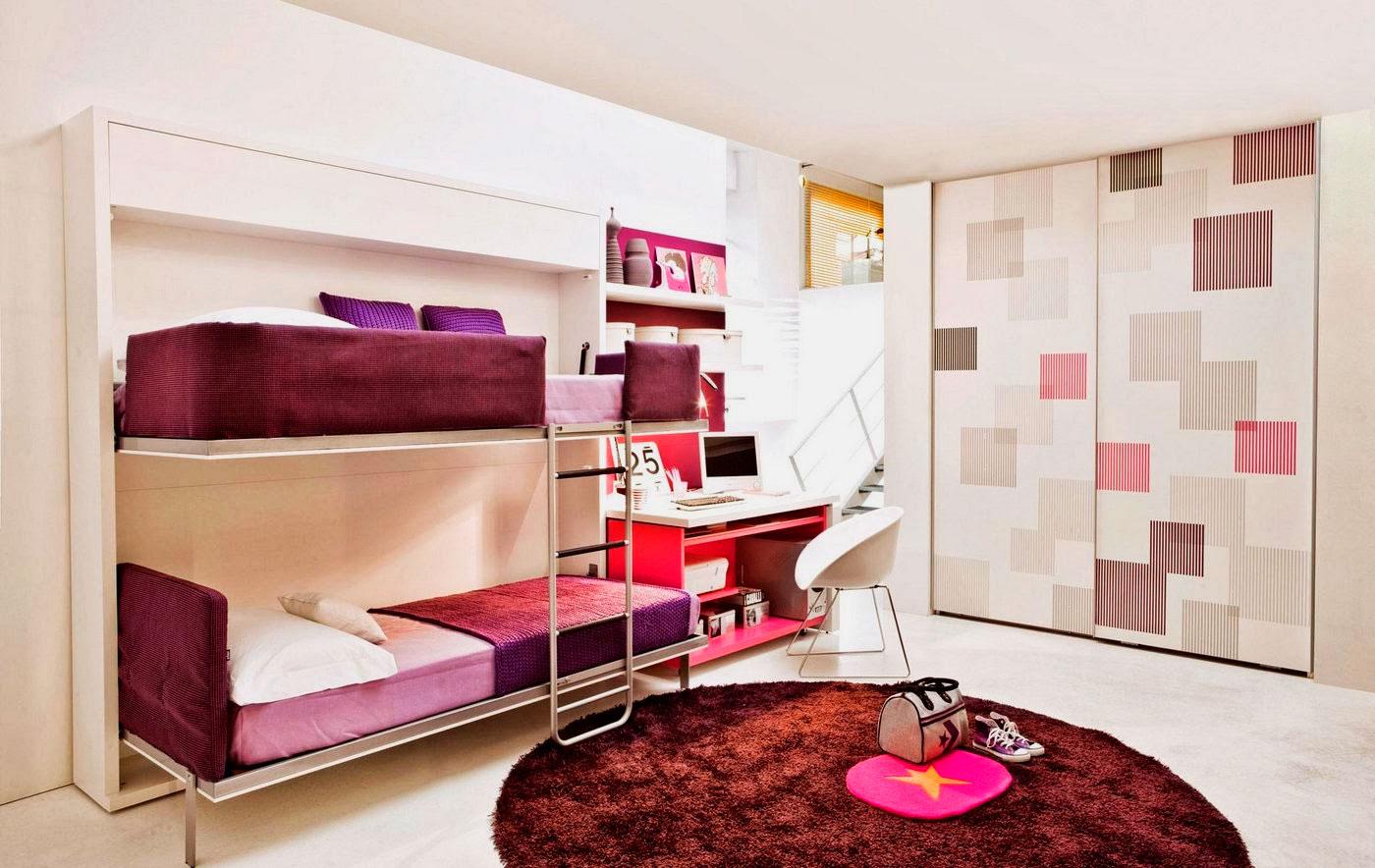 Двухъярусная откидная шкаф-кровать трансформер (16)