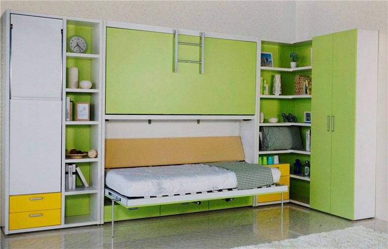 Фото двухъярусной шкаф кровати с ортопедическим основанием на ламелях