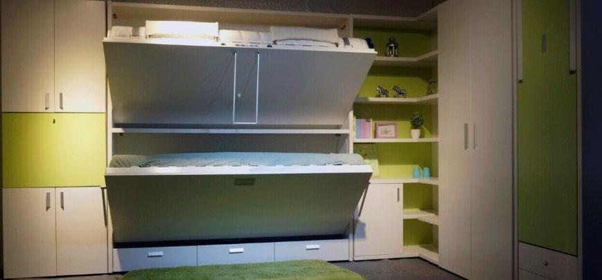 Трансформируемая двухъярусная шкаф-кровать