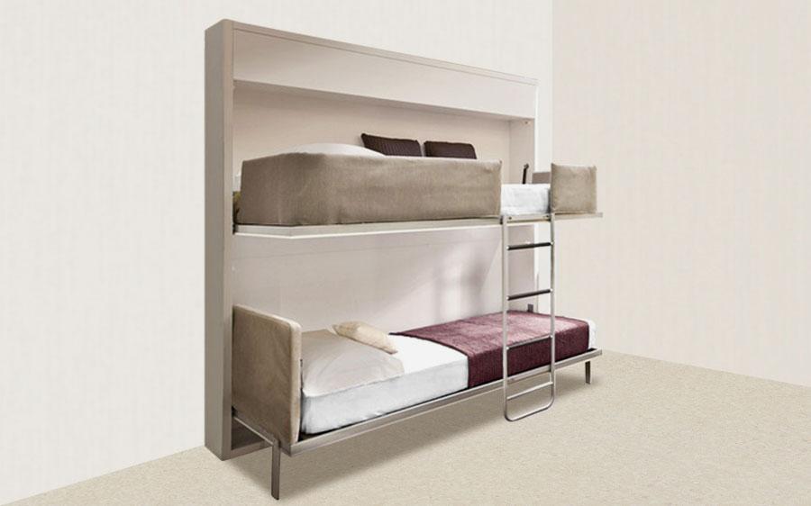 Двухъярусная откидная шкаф-кровать трансформер (37)