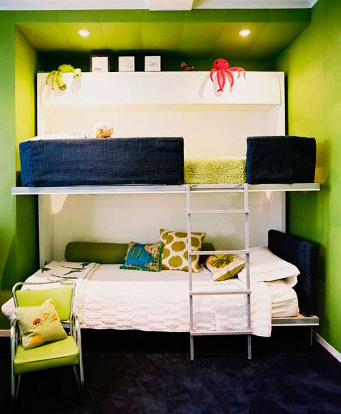 Двухъярусная откидная шкаф-кровать трансформер (8)
