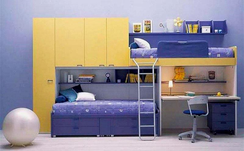 Детская двухъярусная кровать со столом (11)