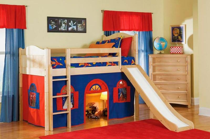 Детская кровать с горкой (14)
