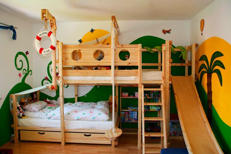 Детская кровать с горкой (18)